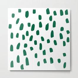 Green brush strokes Metal Print