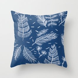 White Pine on Speckled Blue Throw Pillow