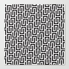 Over Under Pattern #1 Canvas Print