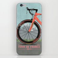 brompton iPhone & iPod Skins featuring Tour De France Bike by Wyatt Design