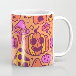 Mushrooms and Pumpkins Coffee Mug