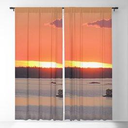 Swedish Archipelago Sunset Blackout Curtain