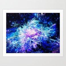 Galaxy Plant Art Print