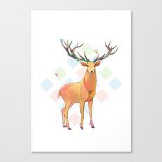 Deer and Diamonds Canvas Print
