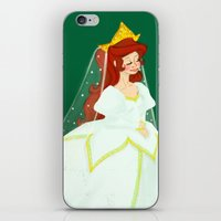 ariel iPhone & iPod Skins featuring Ariel by Delucienne Maekerr