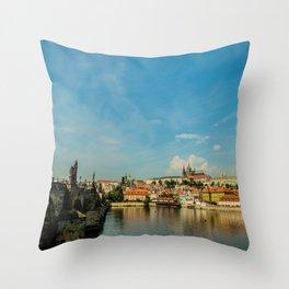 Charles Bridge in Prague Throw Pillow