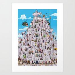 Bubble climbing Art Print