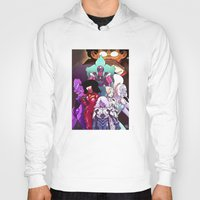 neon genesis evangelion Hoodies featuring Neon Gem Evangelion by AMC Art