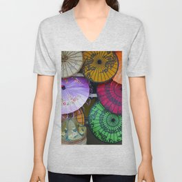 Umbrella Color Unisex V-Neck