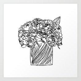 Peony Bouquet Art Print