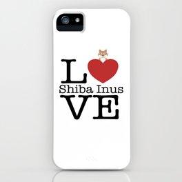 Love Cute Shiba Inus iPhone Case