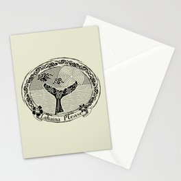 Vintage Lahaina Please Whales Tail Motif Stationery Cards