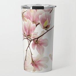 Cascading Pink Magnolia Travel Mug
