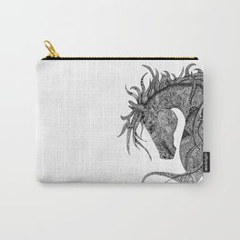 Zentangle Horse Artwork Carry-All Pouch