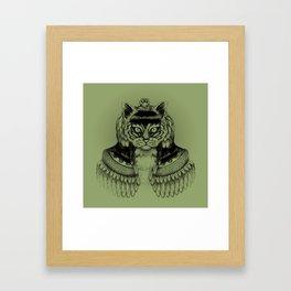Cleo-CAT-ra Framed Art Print