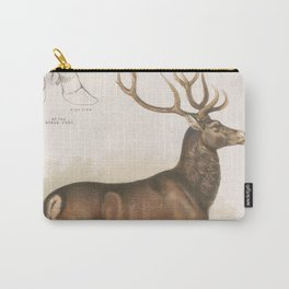 Vintage Illustration of a Round Horned Elk (1872) Carry-All Pouch