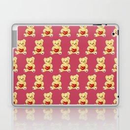 Cute Teddy Bears Pink Pattern Laptop & iPad Skin