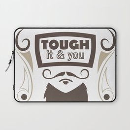 touch it and you will die bearded man Laptop Sleeve