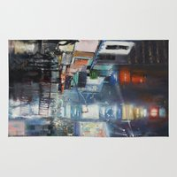 broadway Area & Throw Rugs featuring Nights on Broadway by Scott Grabowski