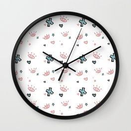 Tuesday Scribbles Wall Clock
