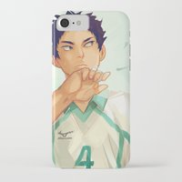 viria iPhone & iPod Cases featuring Iwaizumi by viria