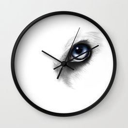 Husky Eye digital drawing Wall Clock
