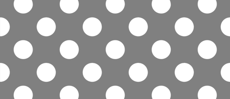 Gray (HTML/CSS gray) - grey - White Polka Dots - Pois Pattern Coffee Mug