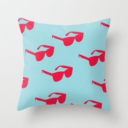 Killin' It - Sunglasses Red And Blue Palette Throw Pillow
