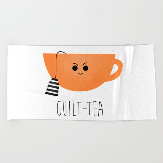 Guilt-tea Beach Towel