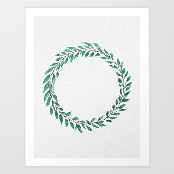 Green Wreath Art Print