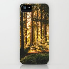 Woods  - Forest, green trees outdoors photography iPhone Case