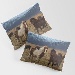 Icelandic Horses Pillow Sham