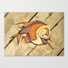 Somethin's Fishy Canvas Print