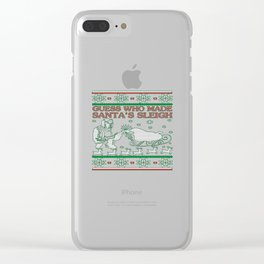 Welder Christmas Clear iPhone Case