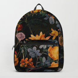 Vintage Botanical Golden Night Rose Garden Backpack