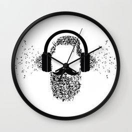 Beard the Music Wall Clock