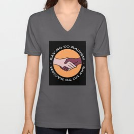 Black Lives Matter BLM, Say no to Racism Unisex V-Neck