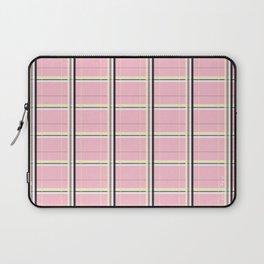 Brigitte B - Stripes yellow on pink background Laptop Sleeve