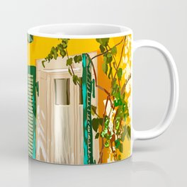Living in the Sunshine. Always, Travel Sunny Summer Architecture Greece Spain Building Illustration Coffee Mug