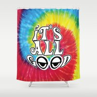 hippy Shower Curtains featuring Hippy by Top Head Culture