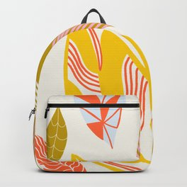 Timberlee, modern autumn leaves Backpack