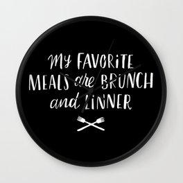 Favorite Meals Wall Clock