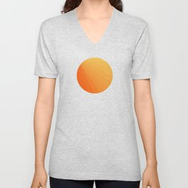 Shades of Sun - Line Gradient Pattern between Light Orange and Pale Orange Unisex V-Neck