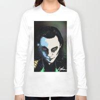 loki Long Sleeve T-shirts featuring Loki  by Liam Shaw Illustration