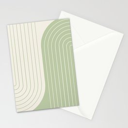 Two Tone Line Curvature XVI Stationery Cards