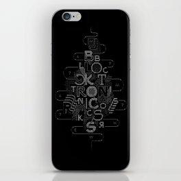 Bblockctronsics iPhone Skin