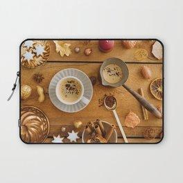 Christmas decoration on wood Laptop Sleeve