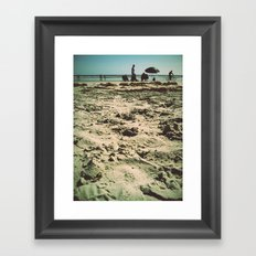 Beach Snooze Framed Art Print
