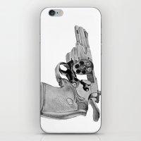 gun iPhone & iPod Skins featuring gun by VoicesRantOn