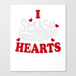 Demolition Derby I Smash Hearts Gift Canvas Print